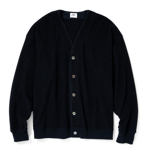 """Just Right """"Double-Faced Pile Cardigan"""" Navy"""
