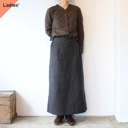 【ラスト1点】THE HINOKI ザヒノキ コットンパラシュートクロスセットアップドレス TH20W-14 Olive brown × Black