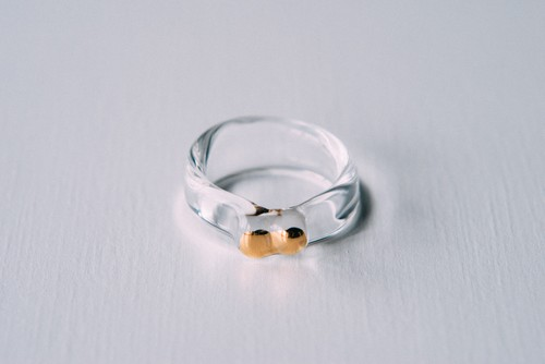 15.5号 cleargold ring (no.33)