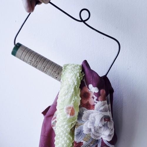 【 towel hanger 】タオルかけ / タオルハンガー /  糸巻き/  福山紡績 / vintage / japan