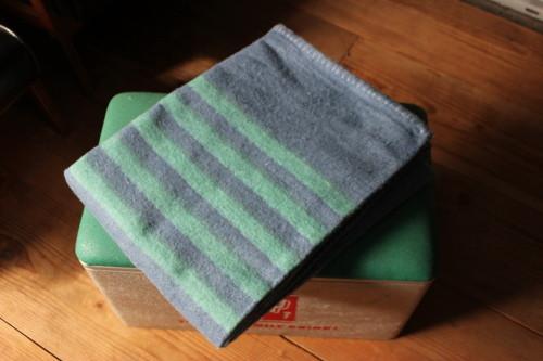 Recycle Wool Blanket (リサイクルウールブランケット)グリーン