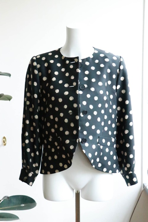 Christian Dior silk dot jacket