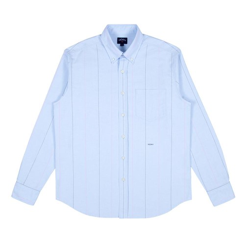 Wide Stripe Oxford Shirt(Blue Stripe)