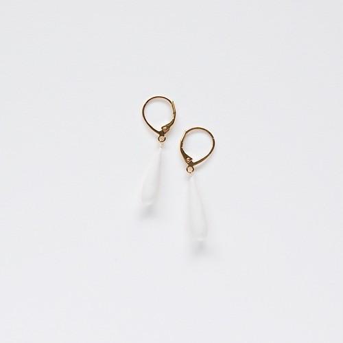 Orchid Teardrops Earrings [ Gold / Silver ]