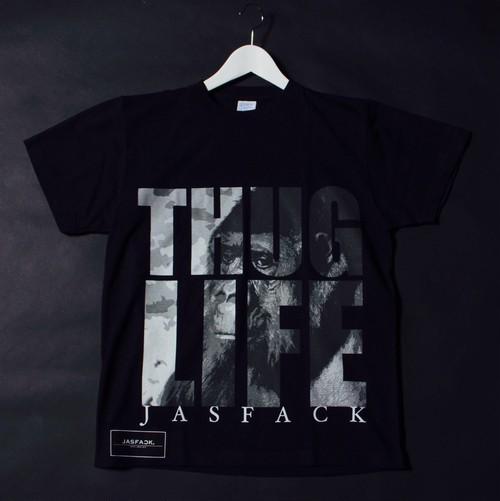 THUG LIFE(Gorilla).Tee (JFK-006) - Black