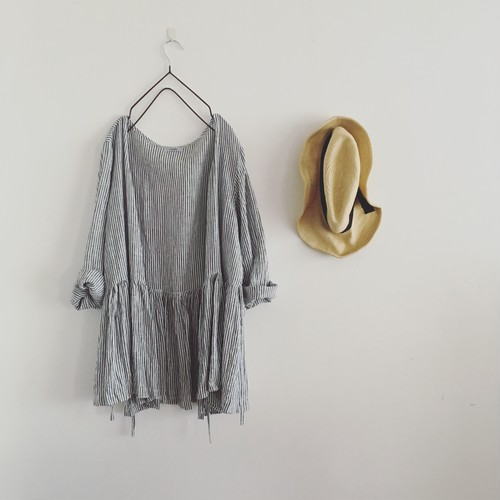 cache-coeur  blouse  (long)stripe
