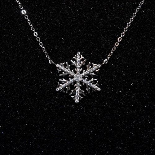 シルバーネックレス 雪の結晶 925