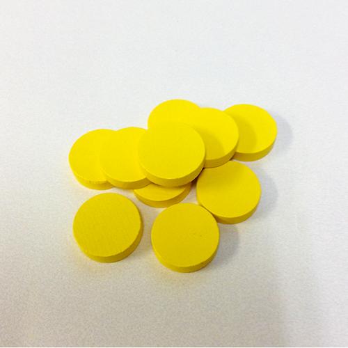 黄20mm木製ディスク(約100個)