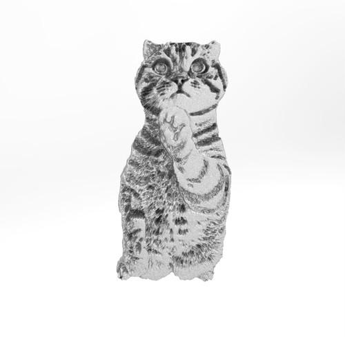 ティノ HOKUSHIN ピンバッチ シルバー925   猫 ねこ ネコ
