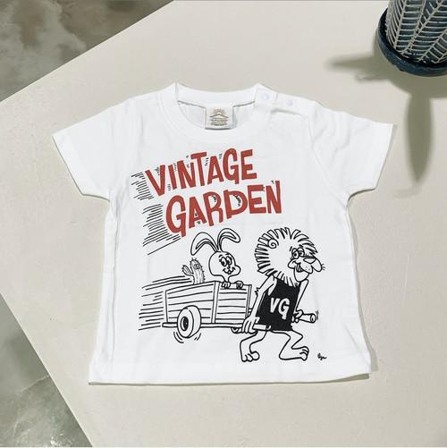 【キッズサイズ】VINTAGE GARDEN オリジナルキャラクターTシャツ(モノクロ:5001)