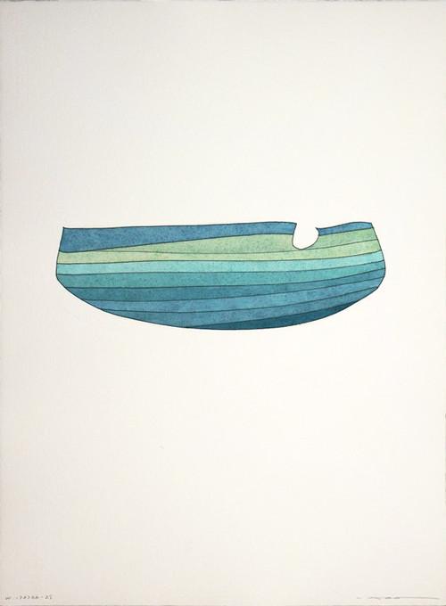 周豪 ZHOU Hao /watercolor W.170766-25 フレーム付き