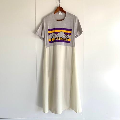 Used print Tee dress white / A