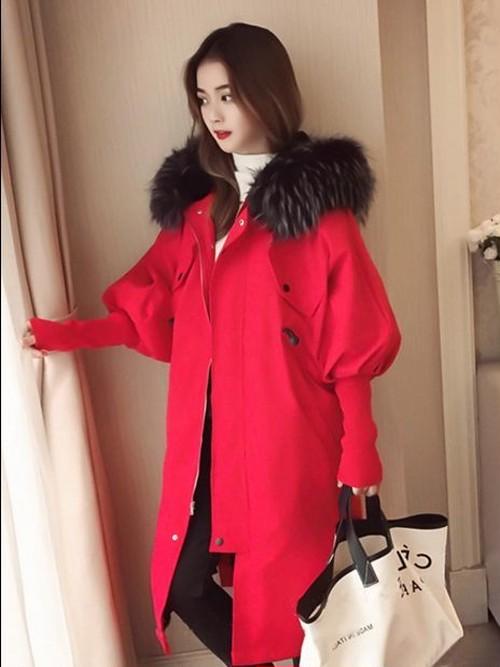 大人キュート!リボン付きフレア袖コート3色 フェイクファー フード付き ロング丈 こなれ感 可愛い 暖かい デート フェミニン オシャレ 秋冬 レディース アウター
