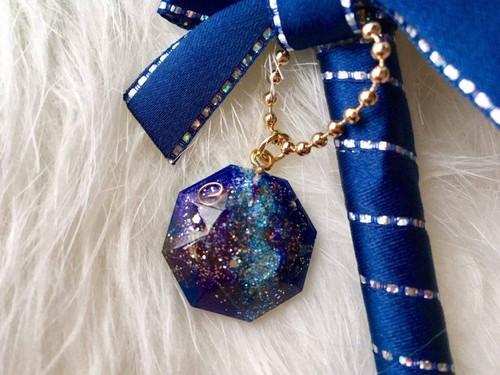 【願いが目覚めるWISHペン】宇宙からの星屑ブルー