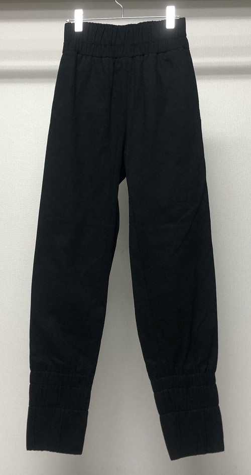 PHOEBE ENGLISH GATHERED BAND JOGGERS BLACK