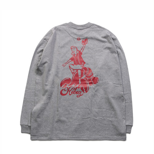 KLB HEAVY WEIGHT L/S TEE【ASH】