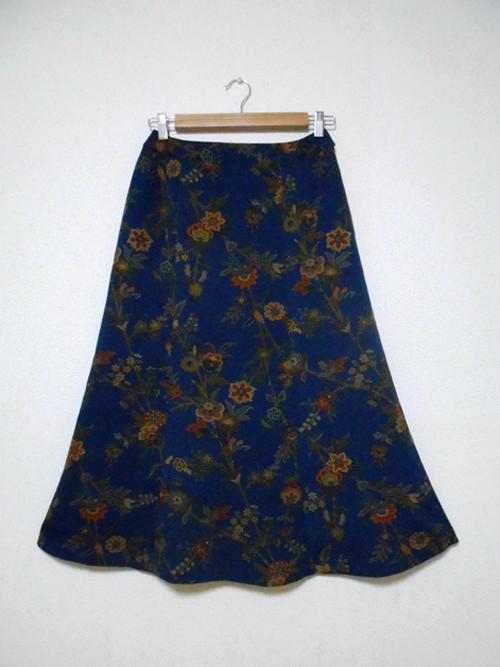 レトロ小紋の着物スカート Kimono Skirt  WS-009/M