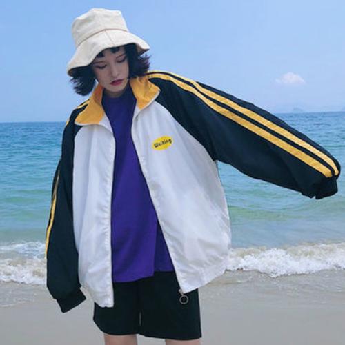 【アウター】カジュアル長袖POLOネックジッパージャケット23028888