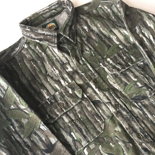 Cabelas : 90's REALTREE camo chamois croth shirt (used)