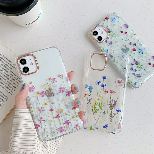 Luxury Plating Flower iphone case