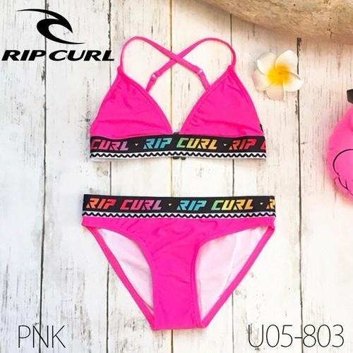 U05-803 リップカール ビキニセット 女の子 子供 水着 選べる 2COLOR ブラック 黒 ピンク かわいい ビーチ プール 海 RIP CURL