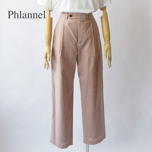 Phlannel/フランネル・American Sea Island Cotton Linen Wide Straight Slacks