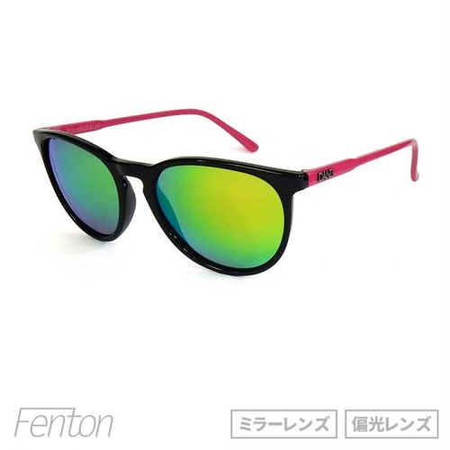 "サングラス「DANG SHADES」""FENTON"" GLOSS BLACK / PINK x PINK FIRE MIRROR POLARIZED 【ミラーレンズ】【偏光レンズ】"