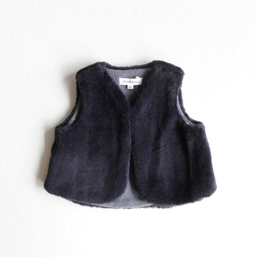 《chocolatesoup 2019AW》BABY ECO FUR VEST / navy