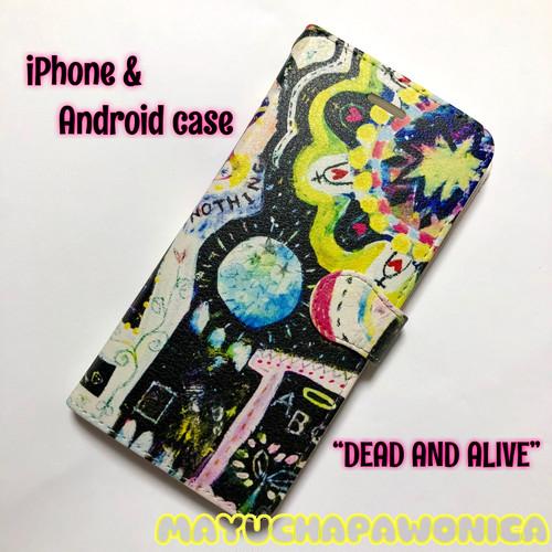 """【新iPhone8/8plus/Xも!全機種対応】""""DEAD AND ALIVE """" iphone/Androidスマホケース【手帳型】 オーダーできます♪"""