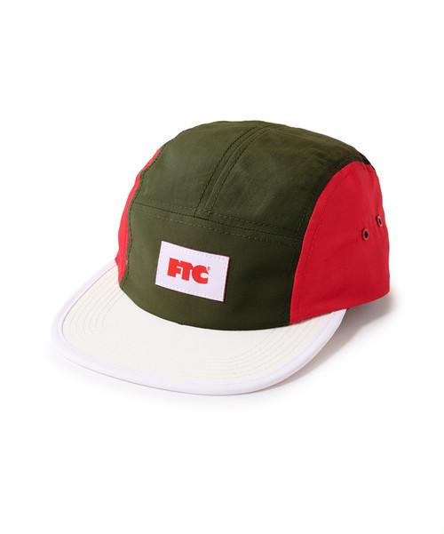 FTC / COLOR BLOCKED NYLON CAMP CAP -WHITE-