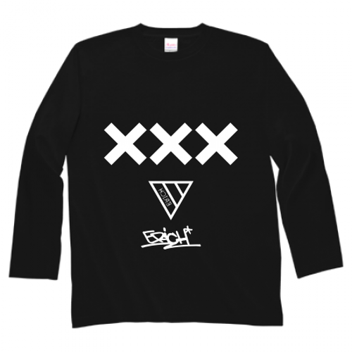 ERICH / XXX LONG SLEEVE T-SHIRT BLACK
