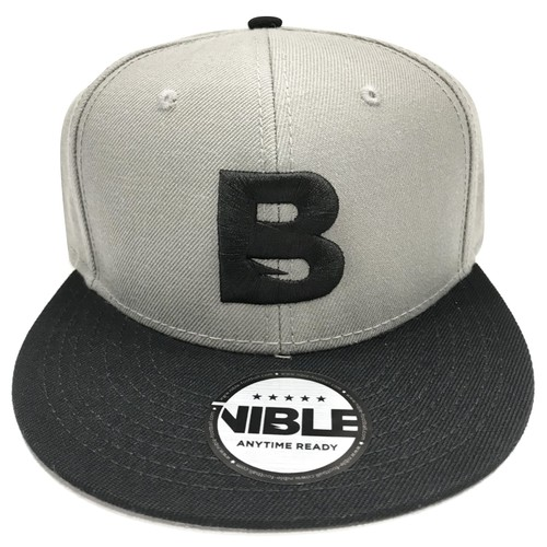 Nible Flat Visor Cap / Grey×Black