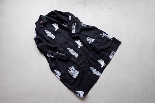 Leh Royal Palace Embroidery Smock Long Shirts (Black / size:M)