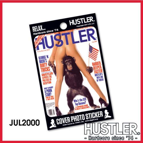 セクシー系金髪お姉ちゃんステッカー・HUSTLER COVER PHOTO STICKER (ハスラーカバーフォトステッカー) / 2000 JULY