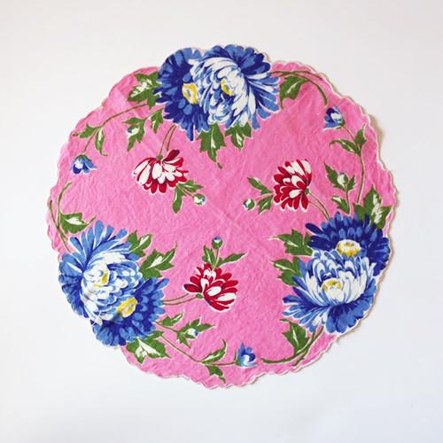 Vintage Printed Handkerchief 003・ヴィンテージ プリントハンカチ 003 U.S.A