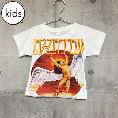 【送料無料 / ロック バンド Tシャツ】 LED ZEPPELIN / White Kids T-shirts S レッド・ツェッペリン / 白 キッズ Tシャツ S