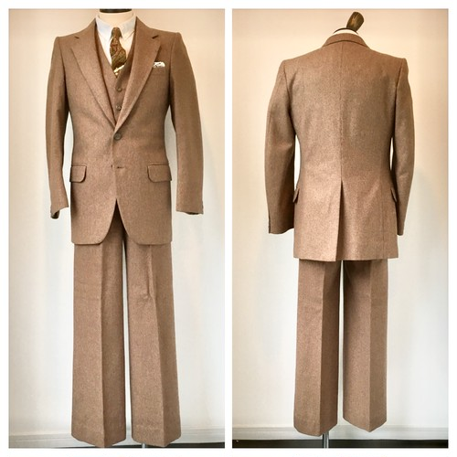 1970s Alexander Vintage 3 Piece Suits Made in England