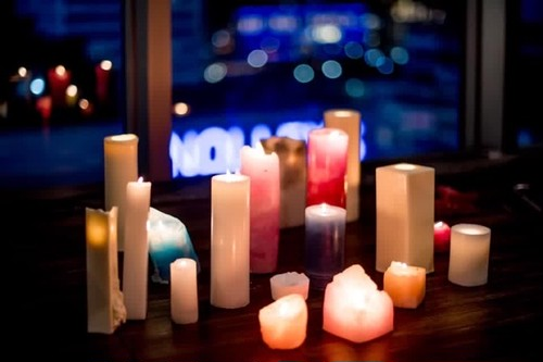 CANDLE DECORATION / 10 PIECE