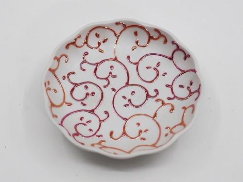 カラクサ(赤)まめ皿