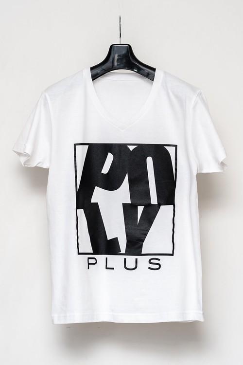 POLYPLUS Vネック Tシャツ