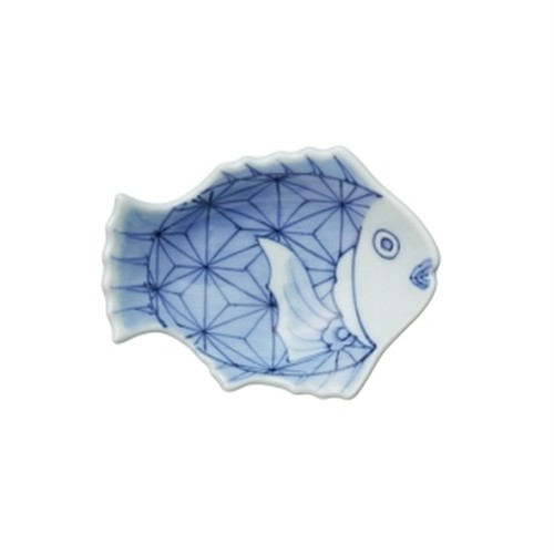 招福鯛クラッシック 麻ノ葉文豆皿