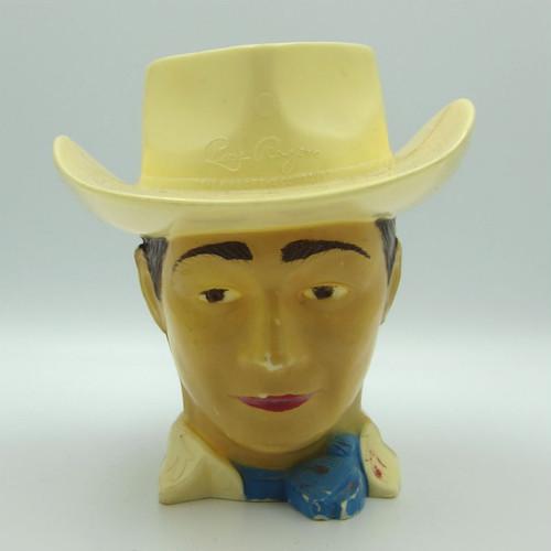 F&F Mold & Die Works - Roy Rogers plastic mug, vintage-#01