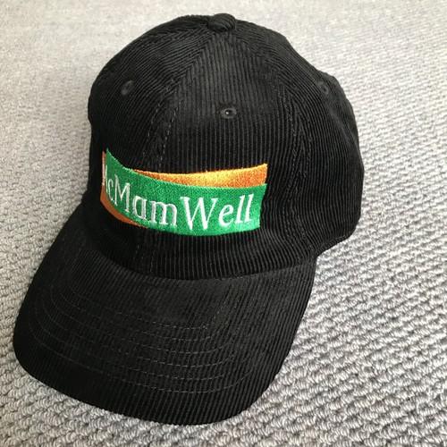"McMamWell : 6panel刺繍CAP ""BLACK"""