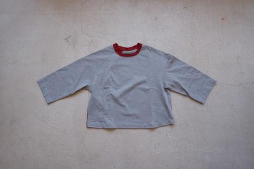 ohta gray dark red Tee (gray dark red / size:W2) [cs-29R]