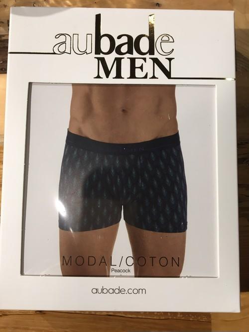 【aubadeMEN】メンズボクサーPEACOCK サイズL