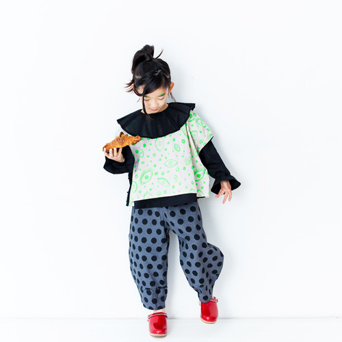 DOTS SCALLOPED BIG PANTS
