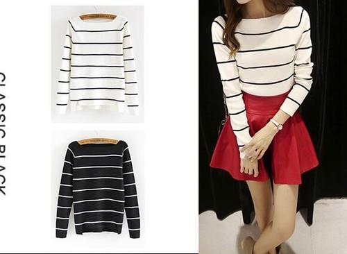 【即納】border off shoulder  tops