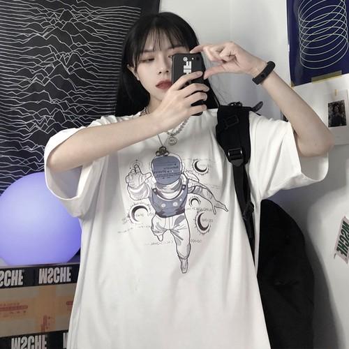 【トップス】新作韓国風プリントゆったりins人気Tシャツ