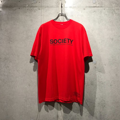 THE SOCIETY LOGO T-SHIRT / RED