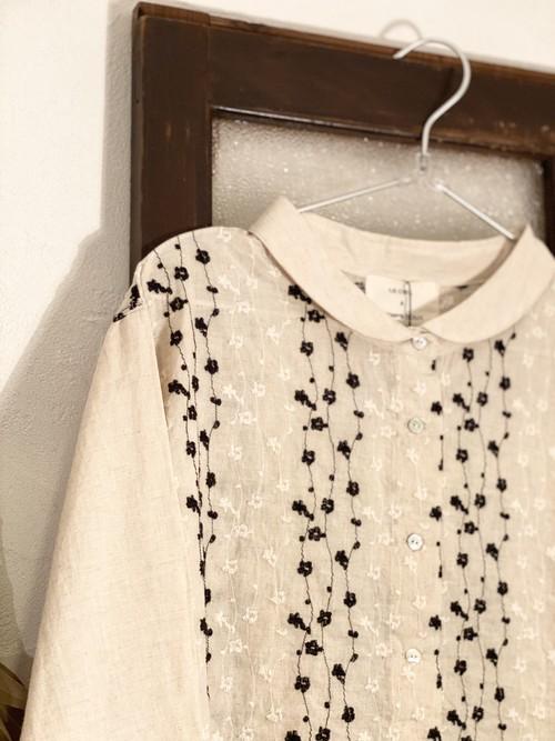 deau   綿麻刺繍シャツ